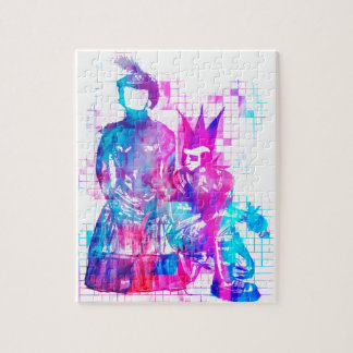 Cotton Candy Goth Girl and Punk Dude Jigsaw Puzzle