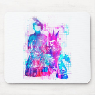 Cotton Candy Goth Girl and Punk Dude Mouse Pad