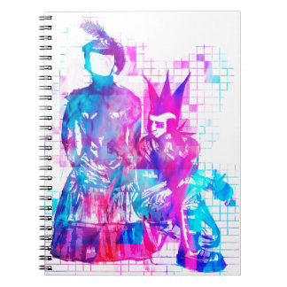 Cotton Candy Goth Girl and Punk Dude Notebooks