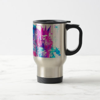 Cotton Candy Goth Girl and Punk Dude Travel Mug