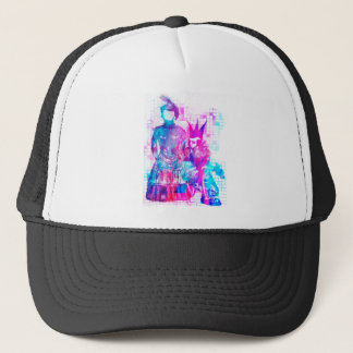 Cotton Candy Goth Girl and Punk Dude Trucker Hat