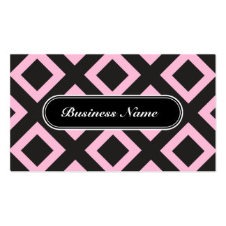 Cotton Candy Graphic Square Pattern Pack Of Standard Business Cards