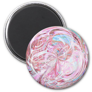 Cotton Candy Mandala Magnet