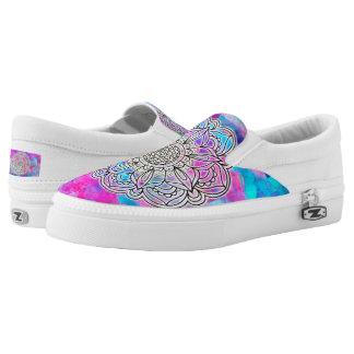 Cotton Candy Mandala ZIPZ Low Top Shoes