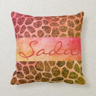 Cotton Candy Patchwork Animal Print Cushion