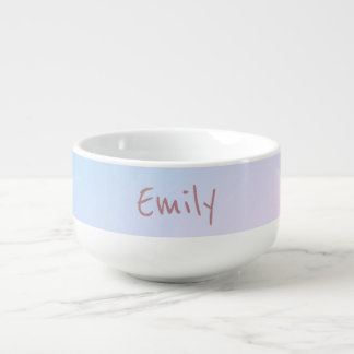 Cotton Candy Pink and Blue Soup Mug