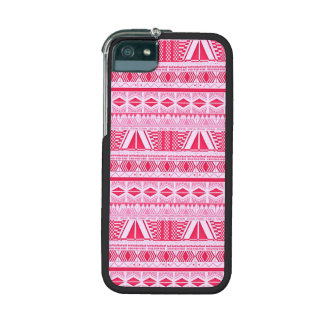 Cotton Candy Pink Aztec Pattern iPhone 5 Case