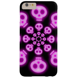 Cotton Candy Pink Skulls 2 Barely There iPhone 6 Plus Case