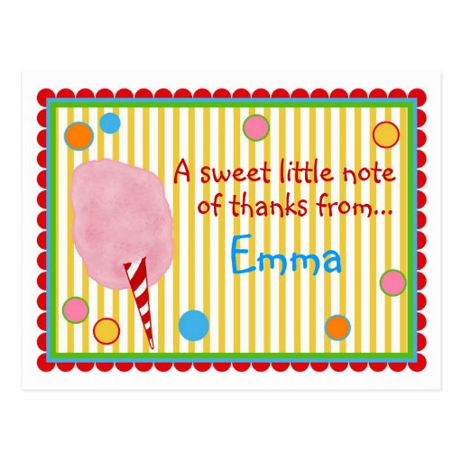 Cotton Candy Post card