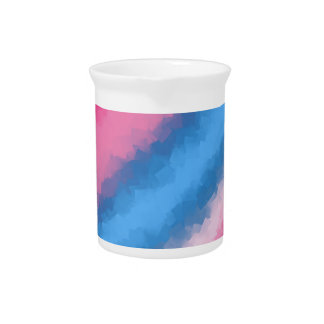 Cotton Candy Rainbow Colors Drink Pitcher