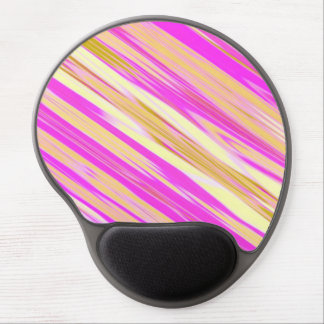 Cotton Candy Stripe Design Gel Mouse Pad