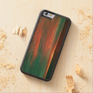 Cotton Candy Sunset Carved Wood Phone Case Cherry iPhone 6 Bumper
