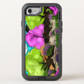 Cotton Candy Trees Abstract Art OtterBox Defender iPhone 8/7 Case