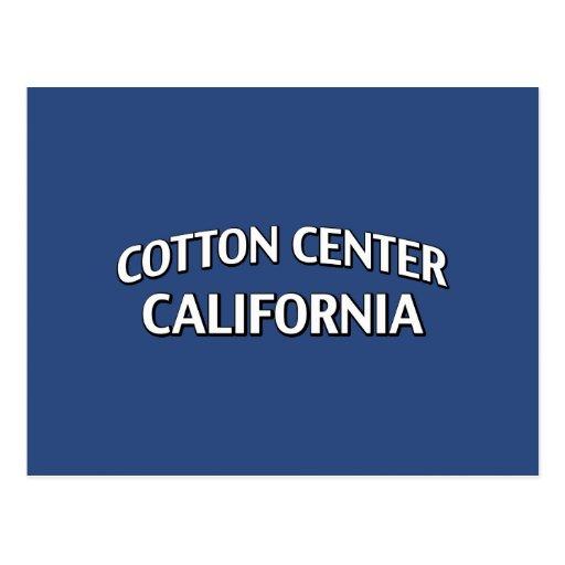 Cotton Center California Postcard
