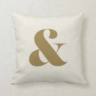 """Cotton Crème Ampersand Pillow 16"""" x 16"""""""