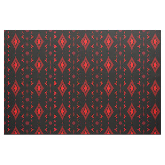 Cotton Fabric -Crafts - Bright Orange/Black/Rust