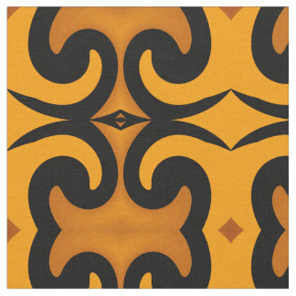 Cotton Fabric -Crafts-Home -Gold/Caramel/Black