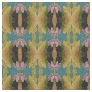 Cotton Fabric--Green/Peach/Gold/Pink/Black/Blue Fabric