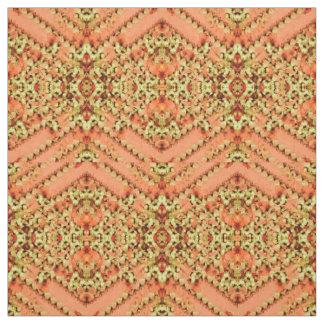 Cotton Fabric - Pattern on Peach & Cream