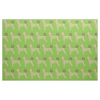 Cotton Fabric Poodles custom