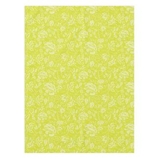 Cotton Floral Block Tablecloth