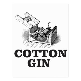 cotton gin bW Postcard