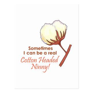 COTTON HEADED NINNY POSTCARD