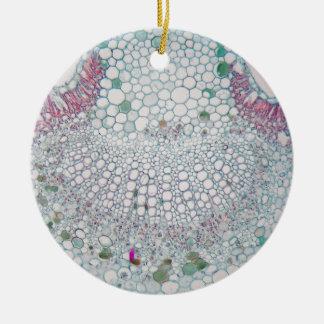 Cotton leaf under the microscope ceramic ornament