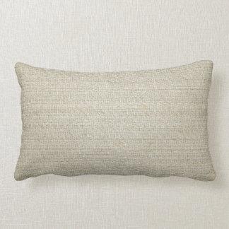 Cotton Linen Background Lumbar Cushion