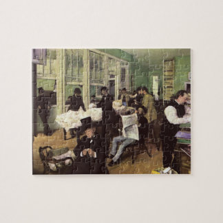 Cotton Market in New Orleans by Edgar Degas Jigsaw Puzzle