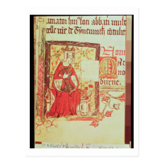 Cotton Nero D VIII fol.7 Queen Matilda holding a c Postcard