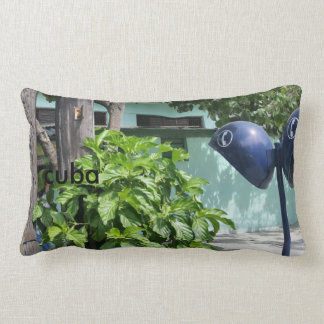 Cotton Print Design Cuban Retro Payphone Lumbar Cushion