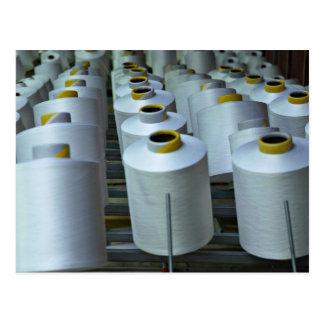 Cotton reels, texture postcards