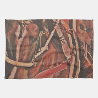 Cotton Rope and Bosal Kitchen Towel Western Horse