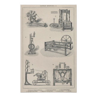 Cotton Spinning I Poster