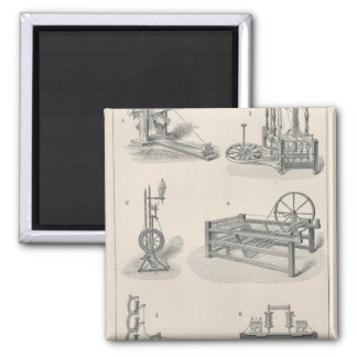 Cotton Spinning I Square Magnet
