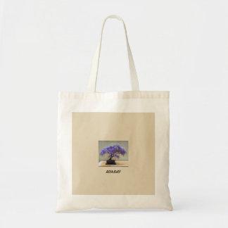 Cotton Tote Bag With Botanical Print.