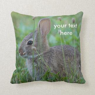 Cottontail rabbit cushion