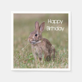 Cottontail Rabbit Paper Napkin