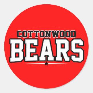 Cottonwood High School; Bears Stickers