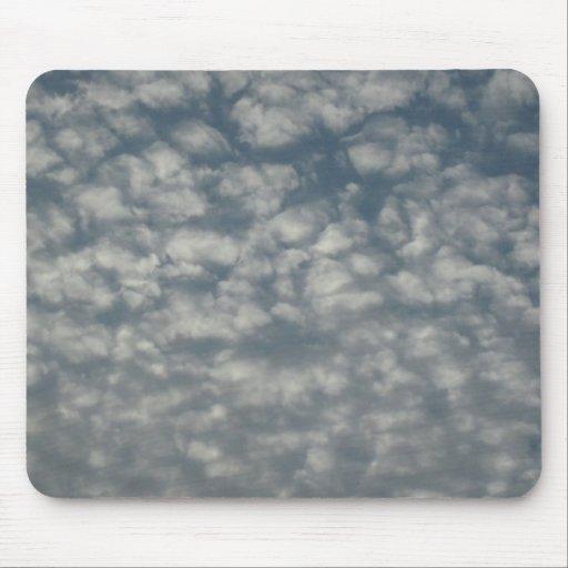 Cottonwool clouds mousepad