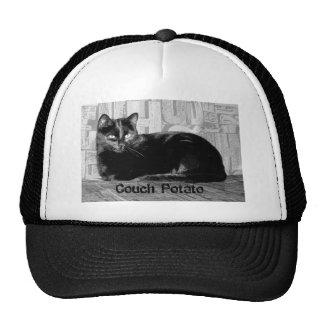 """""""Couch Potato"""" Black Cat Cap"""
