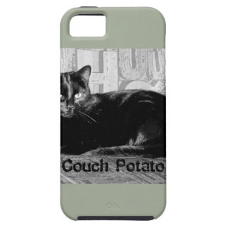 """""""Couch Potato"""" Black Cat Case For The iPhone 5"""