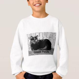 """Couch Potato"" Black Cat Sweatshirt"