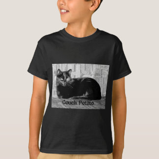 """Couch Potato"" Black Cat T-Shirt"