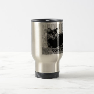 """Couch Potato"" Black Cat Travel Mug"
