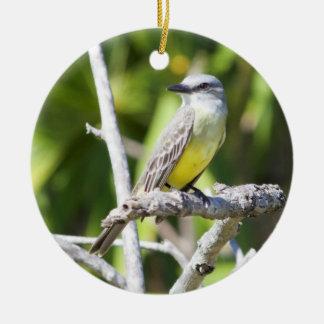 Couch's Kingbird of the Yucatan Ceramic Ornament