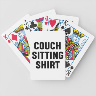 Couch Sitting Shirt Bicycle Playing Cards