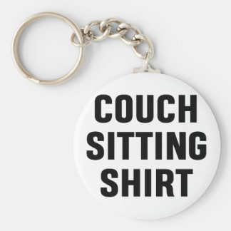 Couch Sitting Shirt Key Ring