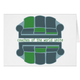 Couches of the World Greeting Card